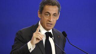 Nicolas Sarkozy, le président des Républicains, le 9 mars 2016 à Paris. (DOMINIQUE FAGET / AFP)