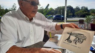 Jack Bellanger, ancien conseiller municipal qui s'est battu dès 1986 pour la création d'une gare TGV à Vendôme (Loir-et-Cher). (FARIDA NOUAR / FRANCEINFO)