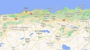 L'un des accidents survenus vendredi 9 juillet 2021 au soira eu lieusur une route nationale reliant Constantine à Jijel. (GOOGLE MAPS)