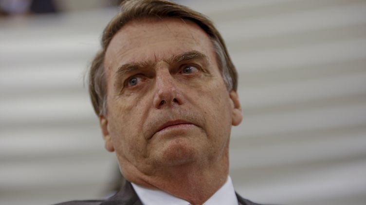 Le candidat à la présidentielle brésilienne Jair Bolsonaro à Uberlandia, le 30 juillet 2018. (SUAMY BEYDOUN / WWW.AGIF.COM.BR / AFP)