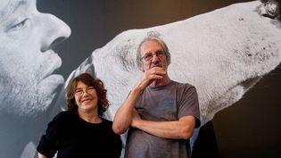 """Jane et Andrew Birkin au musée des Beaux Arts de Calais lors du vernissage de l'exposition """"""""Jane et Serge : album de famille""""  ( Crédit:)"""