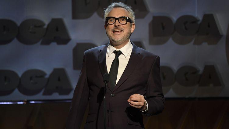 Le réalisateur mexicain AlfonsoCuarón le 25 janvier 2020 à Los Angeles durant la 72e cérémonie des récompenses de la Directors Guild of America. (KEVORK DJANSEZIAN / GETTY IMAGES NORTH AMERICA / AFP)