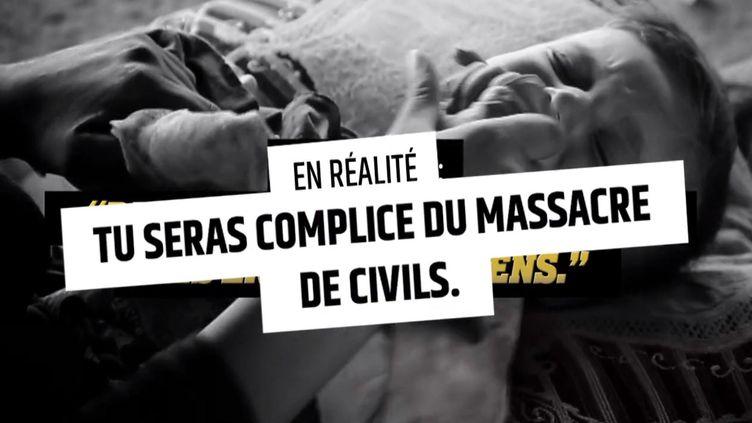 Capture d'écran du spot mis en ligne le 27 janvier 2015 par le gouvernementpour lutter contre l'embrigadement jihadiste. (GOUVERNEMENT / DAILYMOTION)