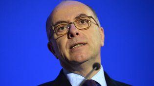 Le ministre de l'Intérieur, Bernard Cazeneuve, au Mans (Sarthe), le 22 février 2016. (JEAN-FRANCOIS MONIER / AFP)