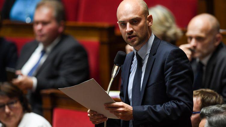 Le député MoDemJean-Noël Barrot, à l'Assemblée nationale, le 3 octobre 2017. (CHRISTOPHE ARCHAMBAULT / AFP)