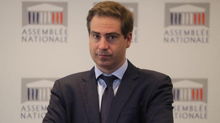 Olivier Becht, président du groupe Agir ensemble à l'Assemblée nationale, le 3 mars 2020. (LUDOVIC MARIN / AFP)