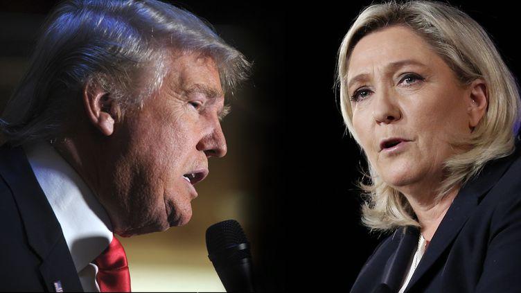 (Donald Trump et Marine Le Pen ©maxPPP)