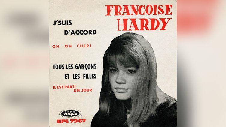 """""""Tous les garçons et les filles"""", de Françoise Hardy. (DISQUES VOGUE)"""