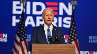 Joe Biden, le 6 novembre 2020 à Wilmington (Delaware). (ANGELA WEISS / AFP)