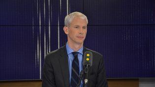 Franck Riester,ministre de la Culture, invité sur Franceinfo. (FRANCEINFO / RADIO FRANCE)