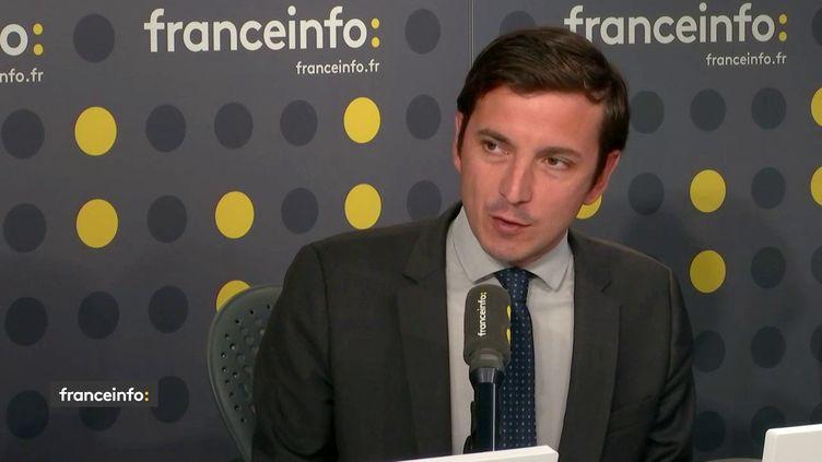 Aurélien Taché, invité sur franceinfo lundi 16 septembre. (FRANCEINFO / RADIOFRANCE)