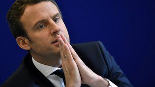 Emmanuel Macron était l'invité de l'émission Elysée 2017 jeudi 27 avril sur TF1 (MAXPPP)