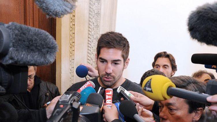 Nikola Karabatic à la sortie du tribunal