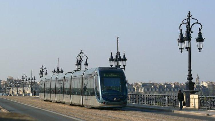 Une rame du tramway à Bordeaux. (FRANCE 3 AQUITAINE)