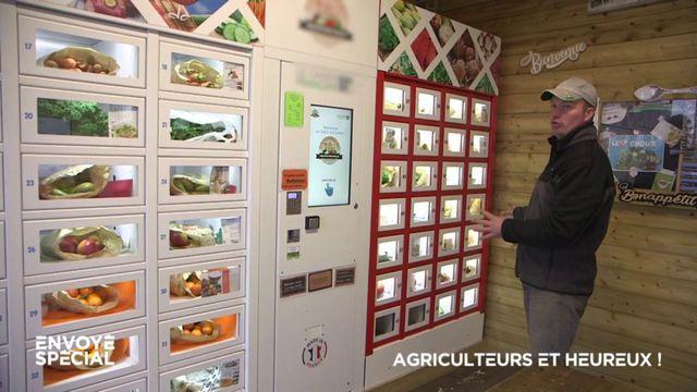 Envoyé spécial. Circuits courts : des distributeurs automatiques pour des légumes vendus directement au consommateur