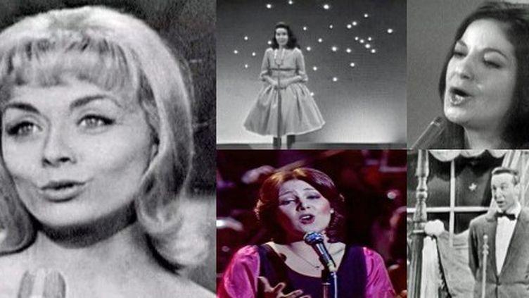 Isabelle Aubret, Jacqueline Boyer, Frida Boccara, Marie Myriam et André Claveau, les cinq vainqueurs français de l'Eurovision  (France 3 / Culturebox)