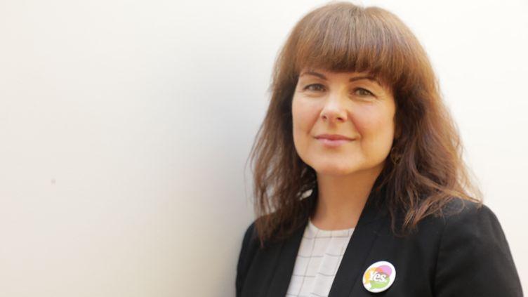 Tara Flynn à Dublin, le 30 avril 2018. (ELISE LAMBERT/FRANCEINFO)
