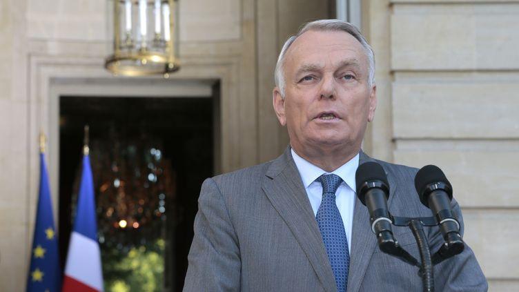 Le Premier ministre Jean-Marc Ayrault lors d'une conférence de presse à Matignon, à Paris, le 2 septembre 2013. (JACQUES DEMARTHON / AFP)