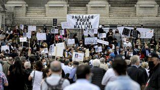 """Des rassemblements pour réclamer """"justice""""après le meurtre de SarahHalimi ont eu lieu dimanche 25 avril à Paris, Marseille, Rome ou encore à Lyon. (MAXIME JEGAT / MAXPPP)"""