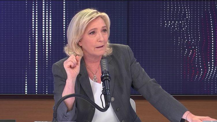 Marine Le Pen, présidente du Rassemblement national, était l'invitée de franceinfo vendredi 26 juin 2021. (FRANCEINFO / RADIO FRANCE)