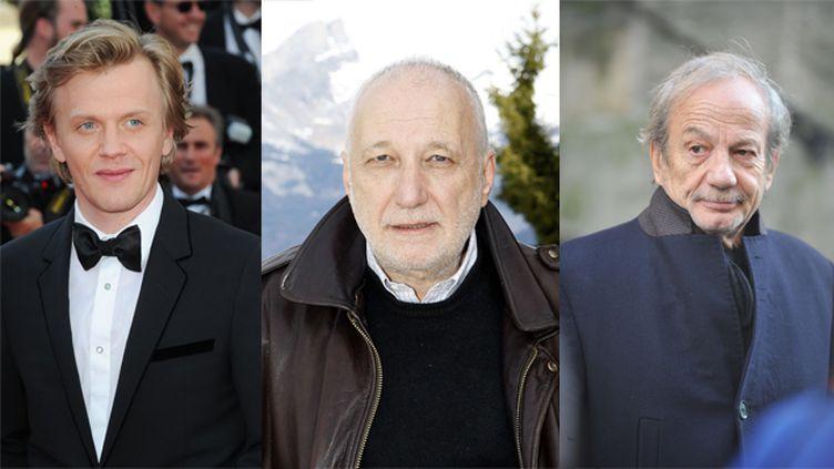 (Parmi les signataires, François Berléand (droite) et Patrick Chesnais (centre), qui ont tous deux répondu à l'appel d'Alex Lutz (gauche) © SIPA)