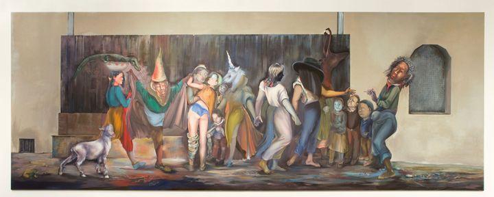 Martial Raysse, Le Carnaval à Périgueux, 1992 - Pinault Collection, Palazzo Grassi Spa / photo : ORCH orsenigo_chemollo  (Adagp, Paris 2014)