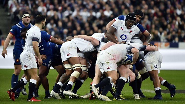 Le match France-Angleterre durant le Tournoi des six nations, le 10 mars 2018, au Stade de France. (CHRISTOPHE SIMON / AFP)