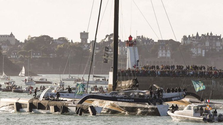 Spindrift 2, le bateau de Yann Guichard (JEAN MARIE LIOT / JEAN MARIE LIOT)