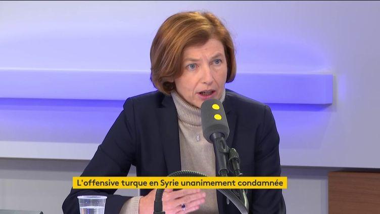 Florence Parly, la ministre des Armées, était l'invitée de franceinfo lejeudi 10octobre. (FRANCEINFO / RADIOFRANCE)