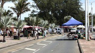 La ville de Saint-Pierre, à La Réunion, est confinée, le 21 mars 2020. (MAXPPP)