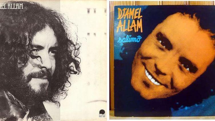 Capture d'image de pochettes de disque de Djamel Allam. (DR)
