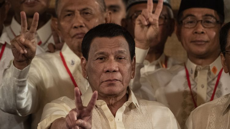Le président philippin Rodrigo Duterte à Manille, le 22 février 2019 (NOEL CELIS / AFP)