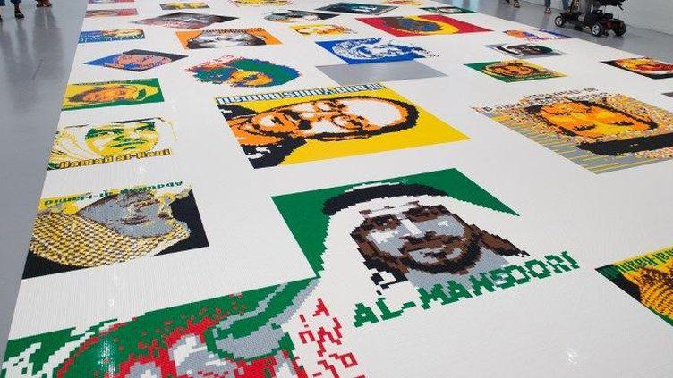Ai Weiwei : portraits de dissidents en légo exposés à Wahington (juin 2017)  (PAUL J. RICHARDS / AFP)
