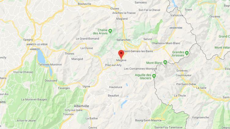 L'hôtel est situé sur les hauteurs de Megêve. (CAPTURE D'ECRAN GOOGLE MAPS)