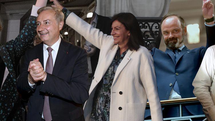 De g. à dr. sur notre montage photo, les maires Jeanne Barseghian (Strasbourg), Jean-Luc Moudenc (Toulouse), Anne Hidago (Paris), Edouard Philippe (Le Havre) et Louis Aliot (Perpignan). (PATRICK HERTZOG / AFP-XAVIER DE FENOYL / PHOTOPQR/LA DEPECHE DU MIDI/MAXPPP-JOEL SAGET / AFP-FRANCK CASTEL / MAXPPP-RAYMOND ROIG / AFP)