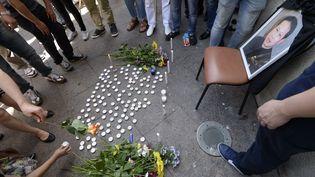 Manifestation hommage àZhang Chaolin le 14 août 2016 à Aubervilliers (ALAIN JOCARD / AFP)