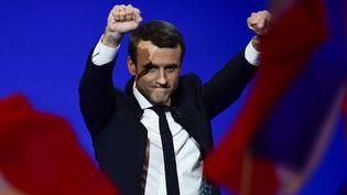 Emmanuel Macron, le 23 avril 2017 au Parc des Expositions à Paris. (CITIZENSIDE/FRANCOIS PAULETTO / CITIZENSIDE)