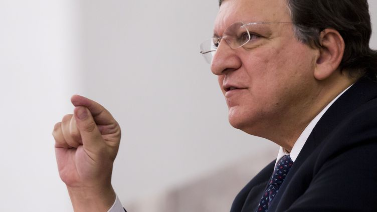 Le président de la Commission européenne, José Manuel Barroso, le 5 novembre 2013 à Francfort (Allemagne). (FRANK RUMPENHORST / DPA / AFP)