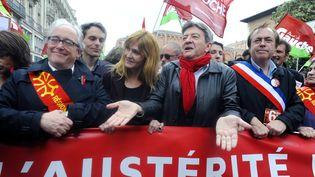 Jean Luc Melenchon à Toulouse, el 1er juin dans une manifestation contre l'austérité en Europe (PASCAL PAVANI / AFP)