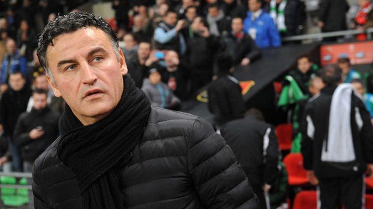 Christophe Galtier, l'entraîneur de St-Etienne (THOMAS BREGARDIS / AFP)