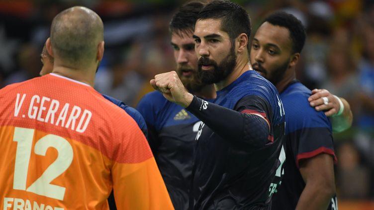 Dans ce remake de la finale du championnat du monde remportée par la France l'an dernier (33-26), les Français ont subi pendant une grande partie du match avant de se reprendre en fin de seconde mi-temps. (ROBERTO SCHMIDT / AFP)