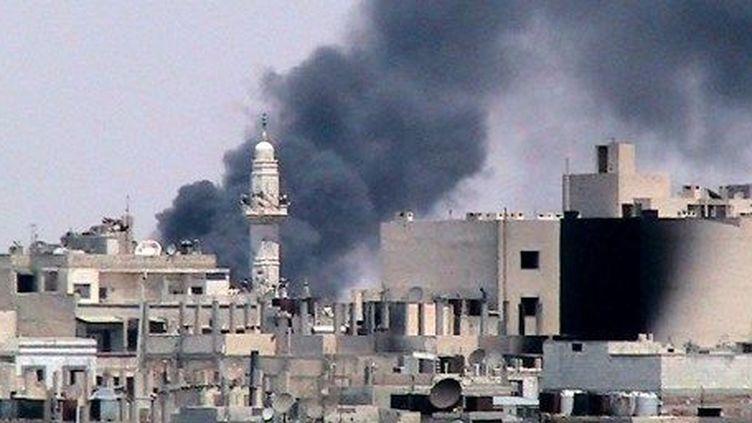 La ville de Homs bombardée en 2012. (AFP)