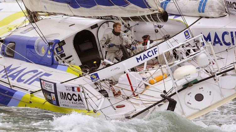 François Gabart (Macif) établit un nouveau temps de référence dans le Vendée Globe au cap Horn (JEAN-SEBASTIEN EVRARD / AFP)