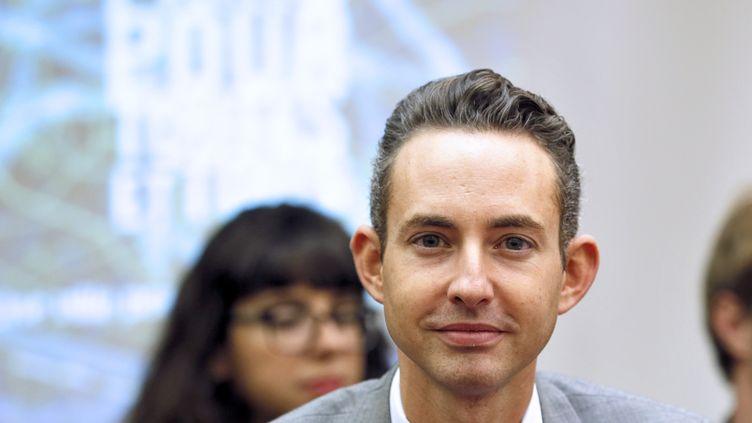 L'élu communiste Ian Brossat est maire adjointau maire de Paris, en charge du logement. (PATRICK KOVARIK / AFP)