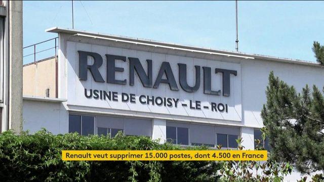 Renault prêt à supprimer 15 000 postes dont 4 600 en France