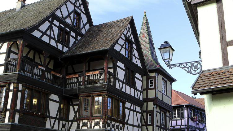 Kaysersberg est l'un des plus beaux villages d'Alsace, notamment grâce à ses maisons typiques. (NICOLAS GOISQUE / MAXPPP)