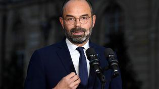 Edouard Philippe s'exprime dans la cour de Matignon, à Paris, le 6 décembre 2019. (BERTRAND GUAY / AFP)
