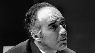 """Michel Piccoli lors de la répétition de la pièce de théâtre """"Le Misanthrope"""" de Molière au Théâtre de la ville, le 29 septembre 1969, à Paris. (AFP)"""