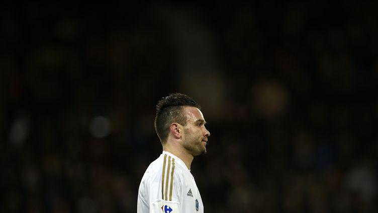 Le joueur de l'OL, Mathieu Valbuena (FRANCK FIFE / AFP)
