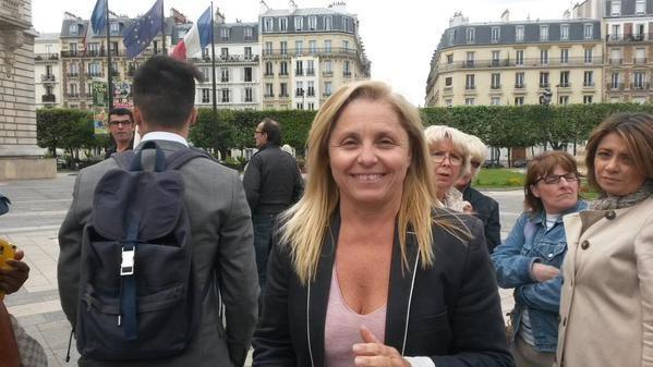 L'adjointe au maire de Levallois-Perret,Sylvie Ramond, le 9 juin 2015. (F. MAGNENOU / FRANCETV INFO)